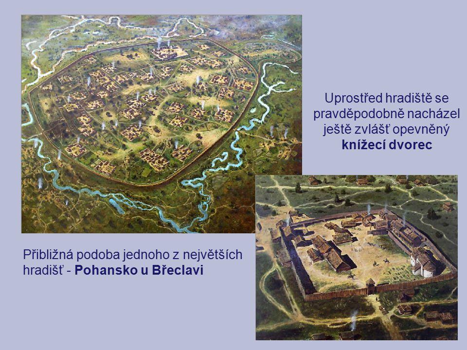 Uprostřed hradiště se pravděpodobně nacházel ještě zvlášť opevněný knížecí dvorec