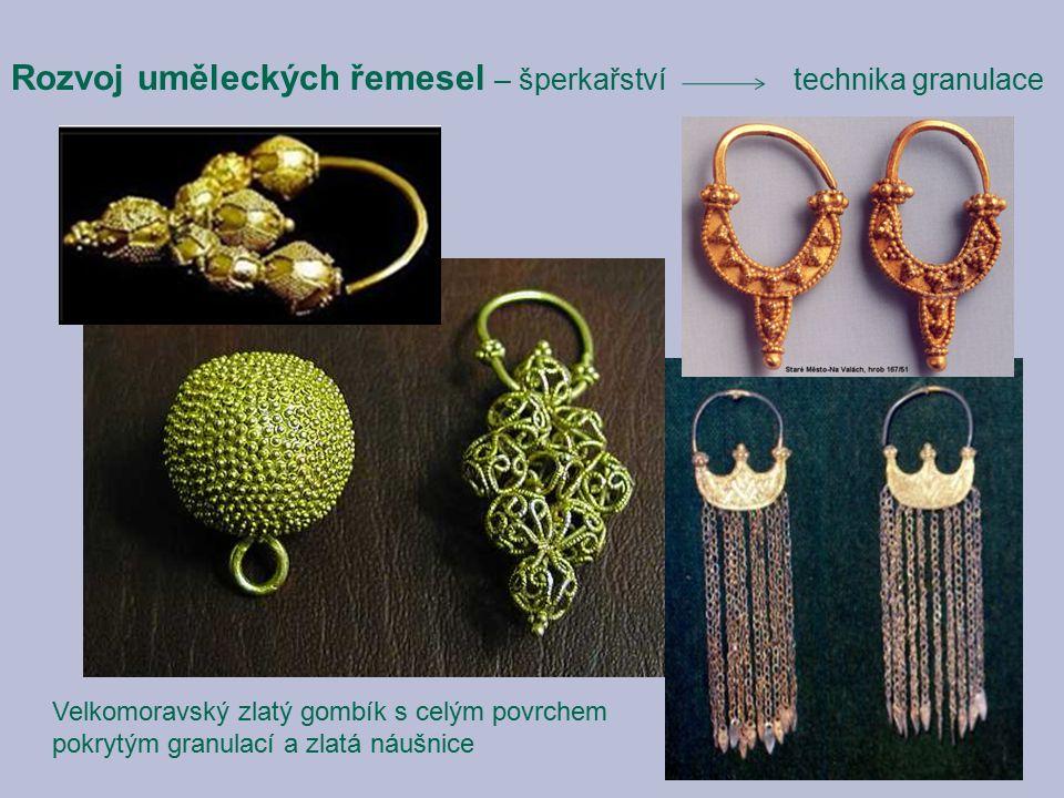Rozvoj uměleckých řemesel – šperkařství technika granulace