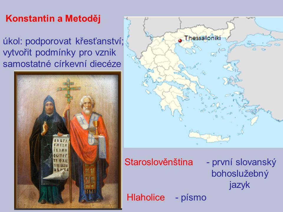 - první slovanský bohoslužebný jazyk