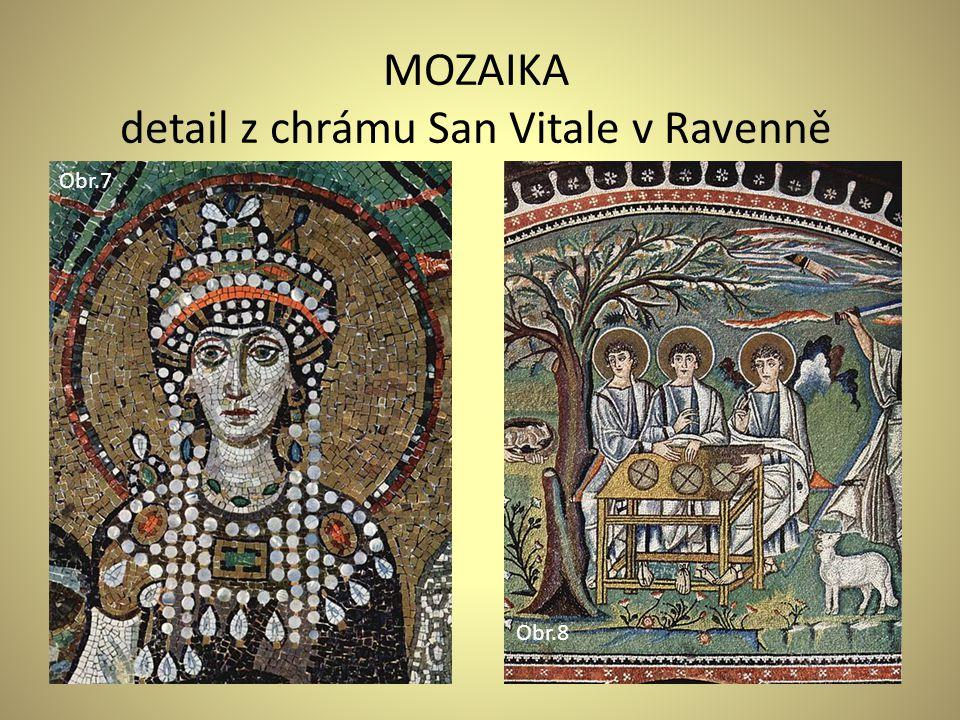 detail z chrámu San Vitale v Ravenně