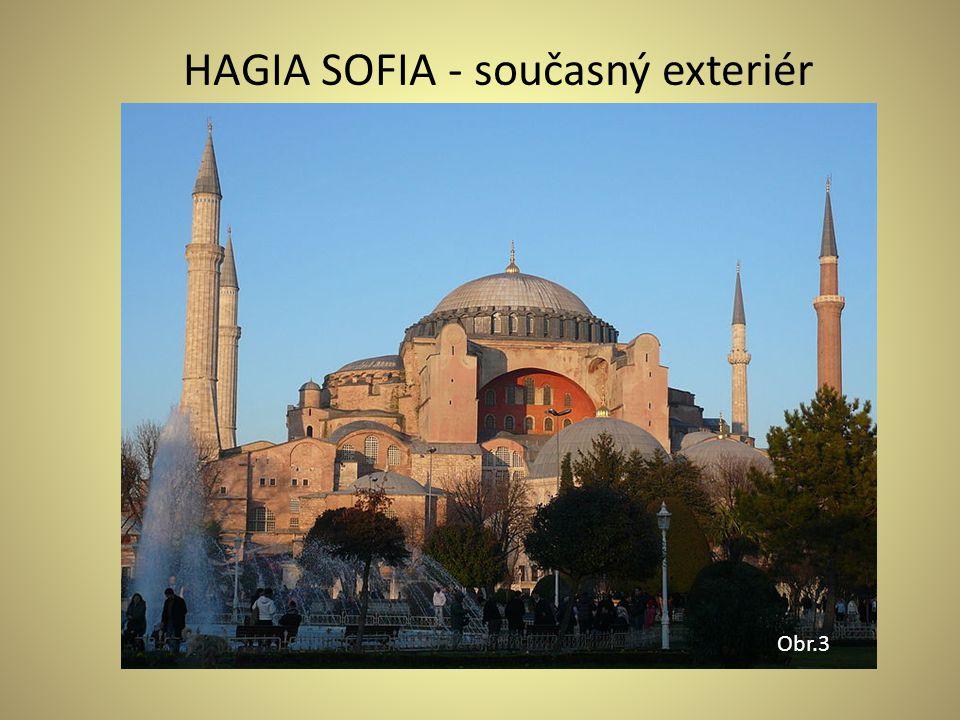 HAGIA SOFIA - současný exteriér