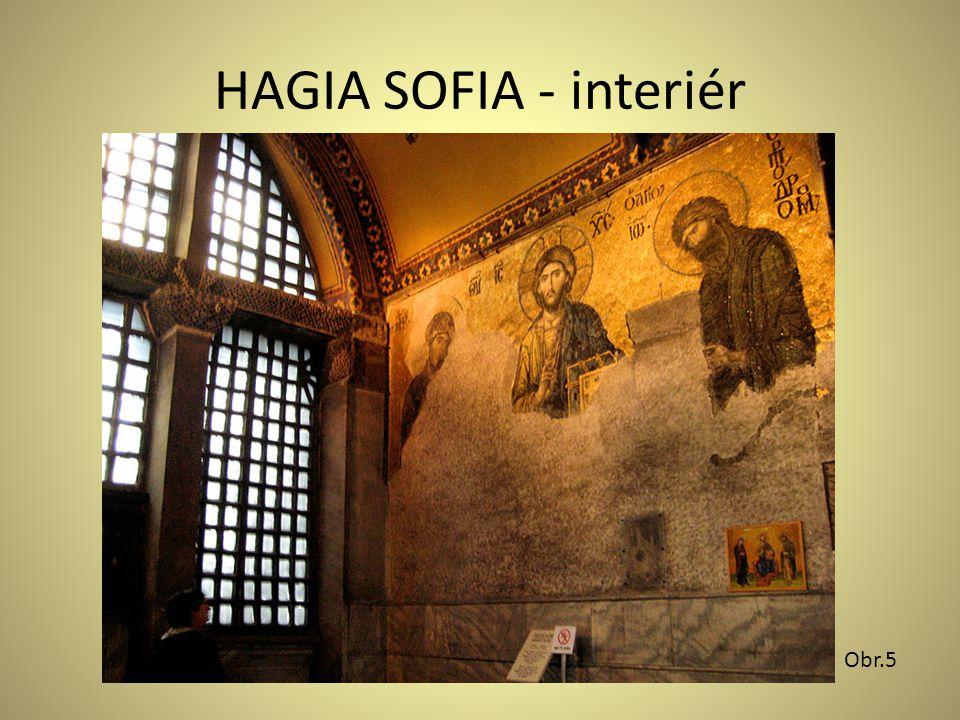 HAGIA SOFIA - interiér Obr.5