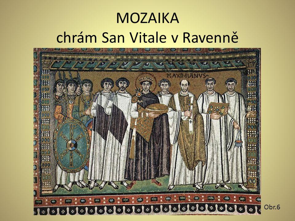 MOZAIKA chrám San Vitale v Ravenně