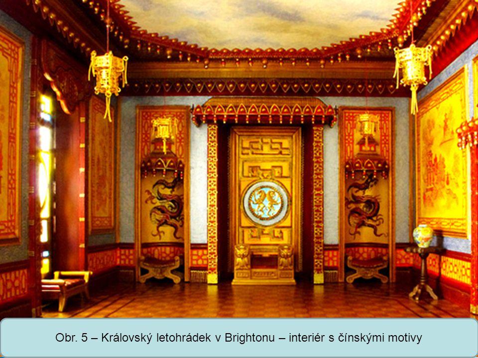 Obr. 5 – Královský letohrádek v Brightonu – interiér s čínskými motivy