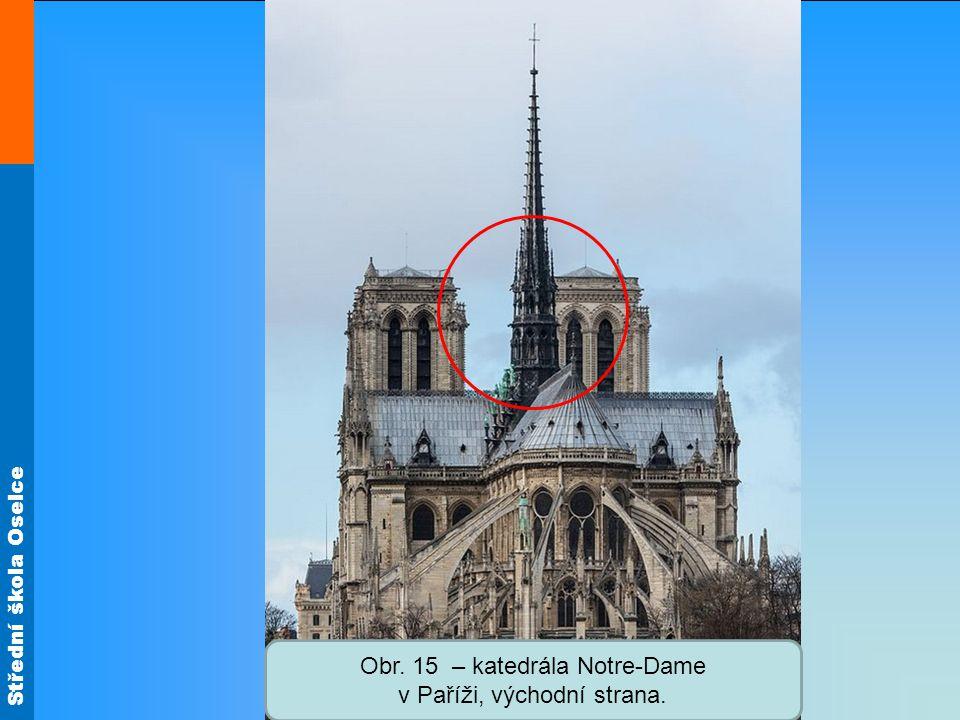 Obr. 15 – katedrála Notre-Dame v Paříži, východní strana.