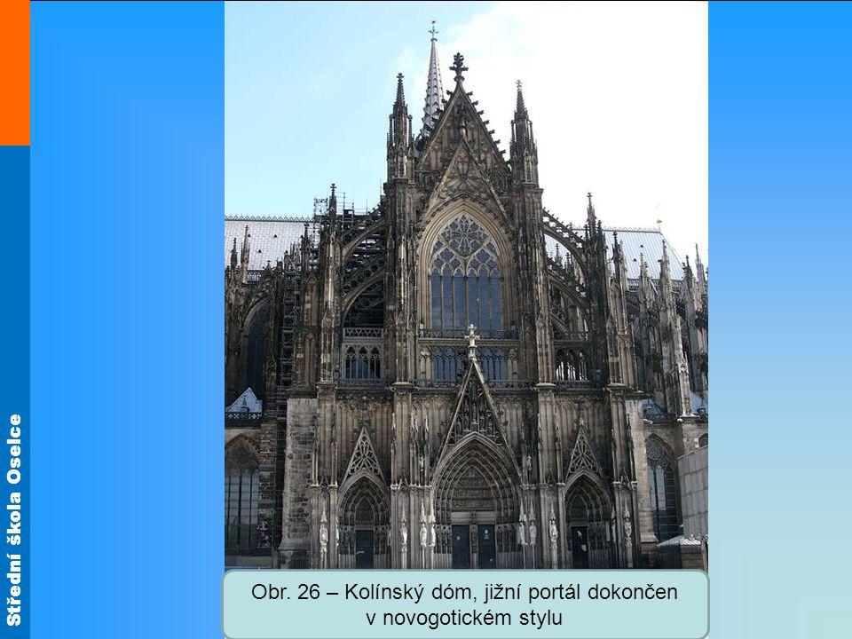 Obr. 26 – Kolínský dóm, jižní portál dokončen v novogotickém stylu