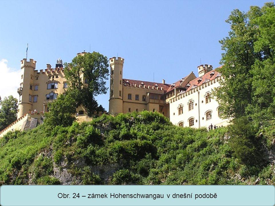 Obr. 24 – zámek Hohenschwangau v dnešní podobě