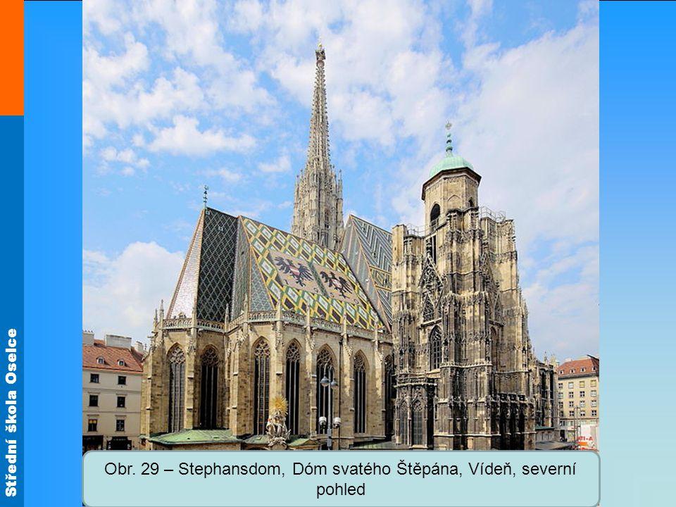 Obr. 29 – Stephansdom, Dóm svatého Štěpána, Vídeň, severní pohled