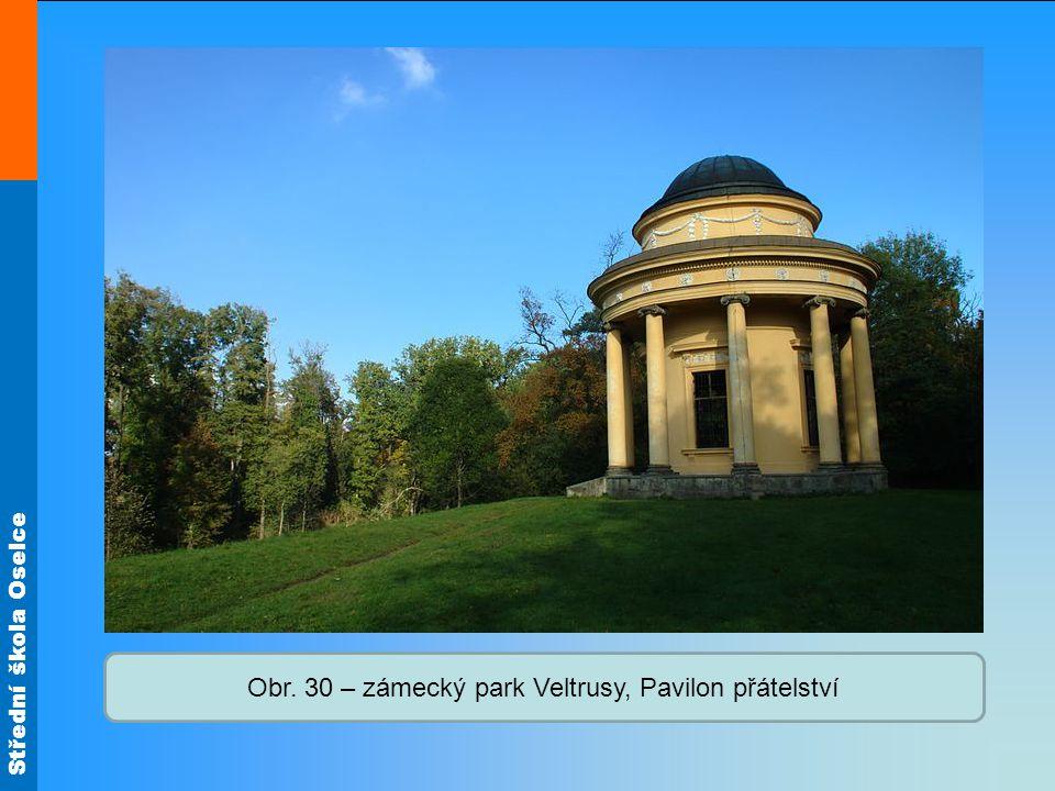 Obr. 30 – zámecký park Veltrusy, Pavilon přátelství