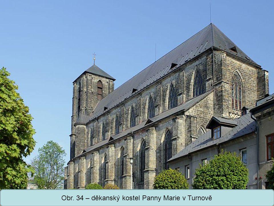 Obr. 34 – děkanský kostel Panny Marie v Turnově