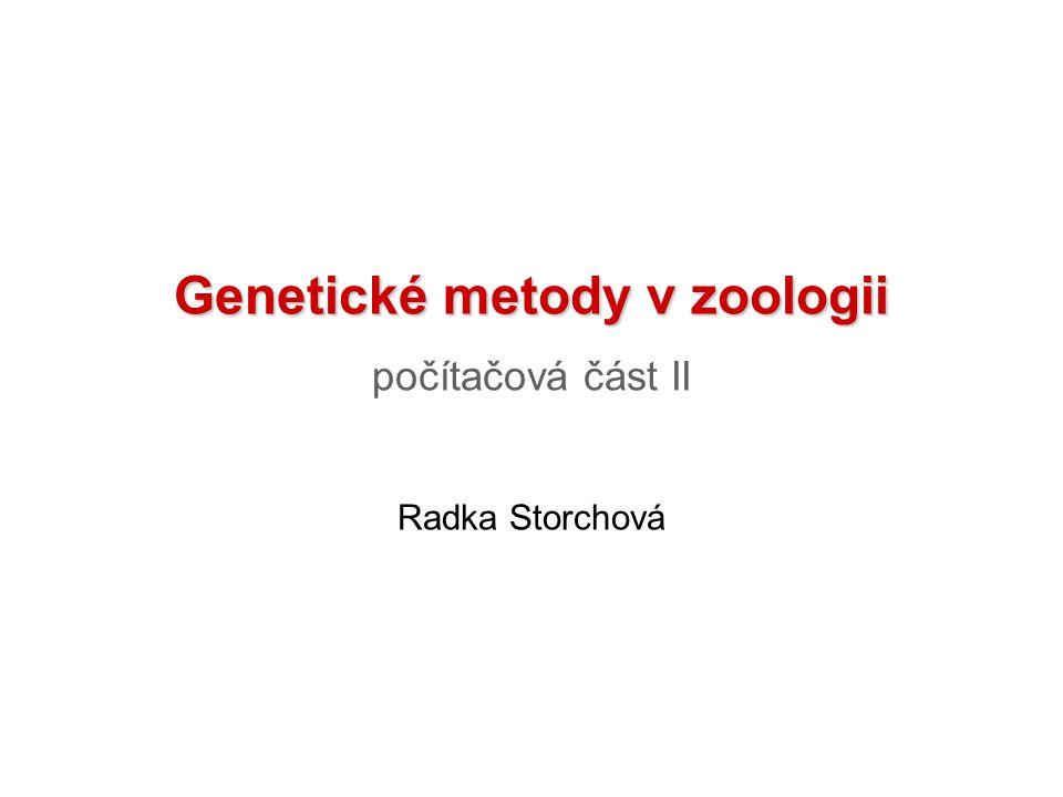 Genetické metody v zoologii