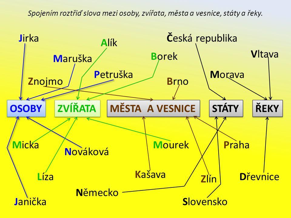Jirka Česká republika Alík Vltava Borek Maruška Petruška Morava Znojmo
