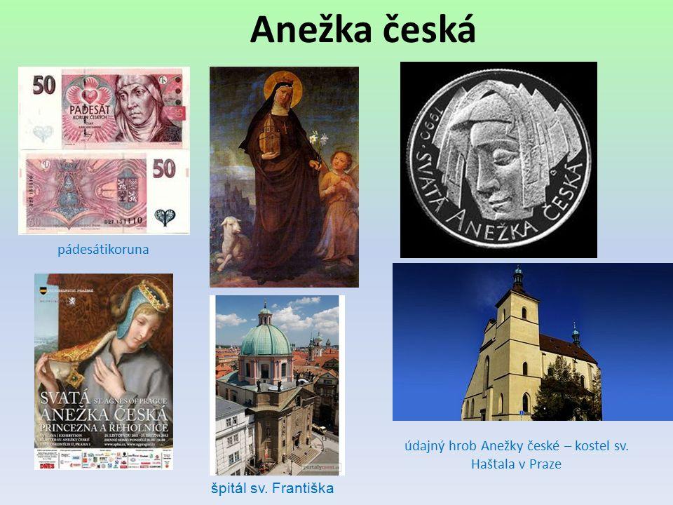 údajný hrob Anežky české – kostel sv. Haštala v Praze