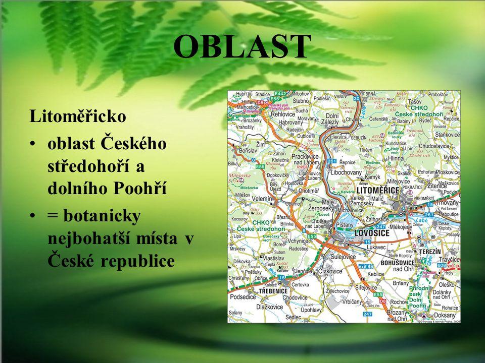 OBLAST Litoměřicko oblast Českého středohoří a dolního Poohří