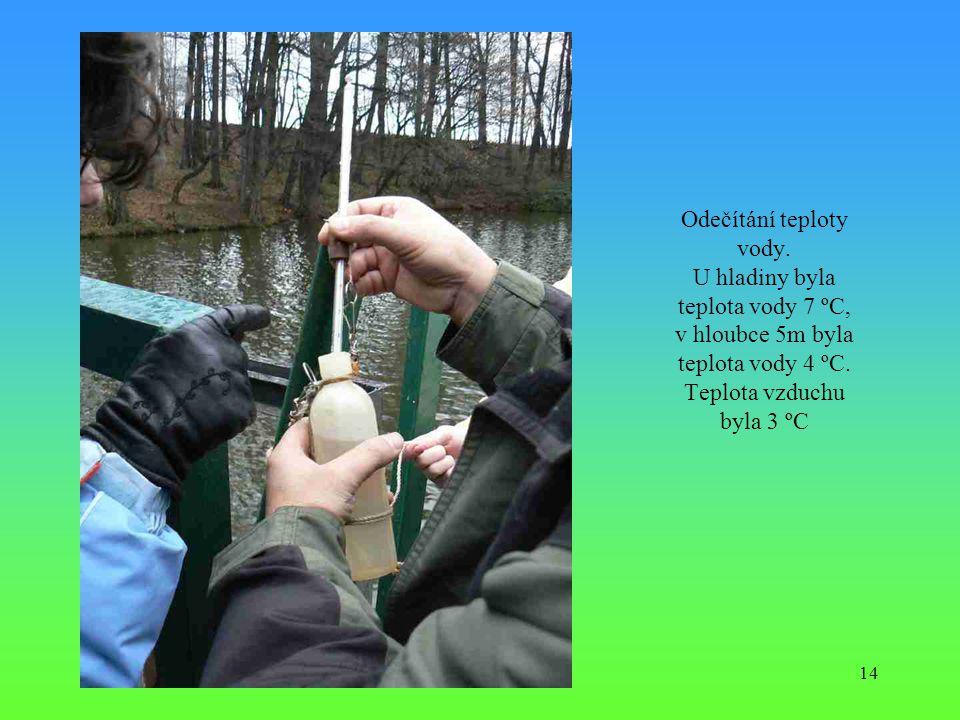 Odečítání teploty vody