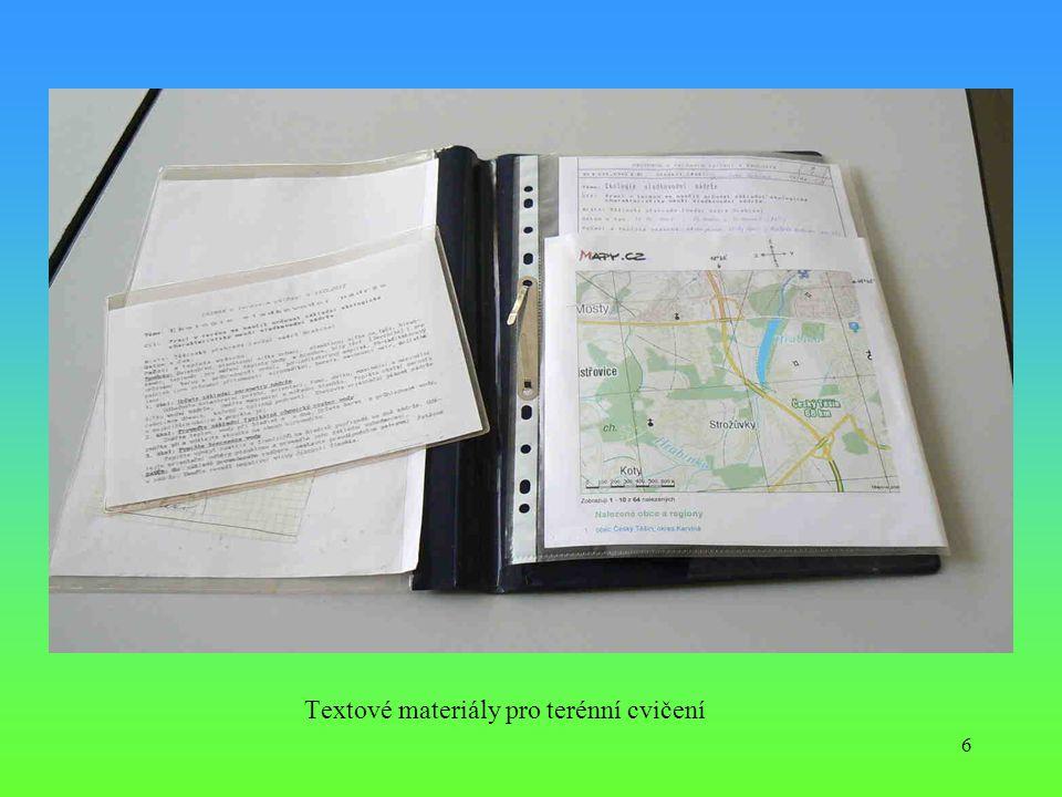 Textové materiály pro terénní cvičení