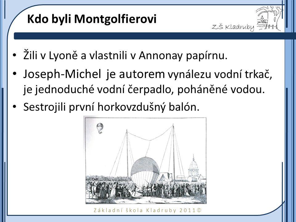 Kdo byli Montgolfierovi