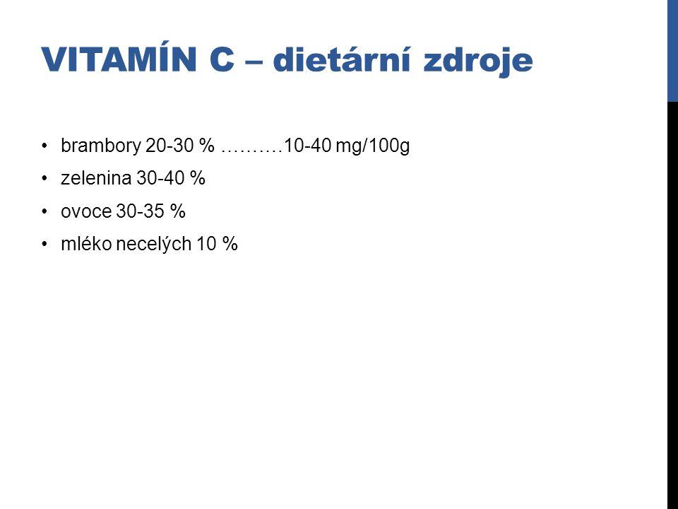 vitAMÍN c – dietární zdroje