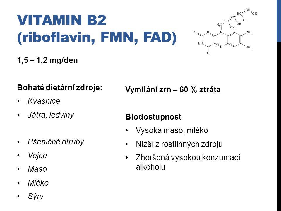 Vitamin B2 (riboflavin, FMN, FAD)