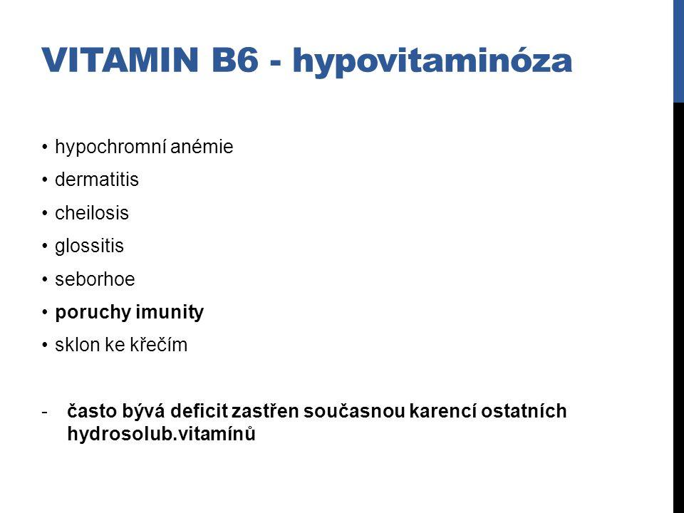 Vitamin B6 - hypovitaminóza