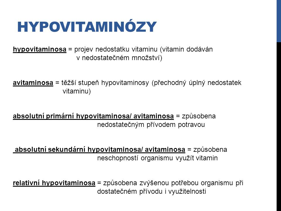 hypovitaminózy