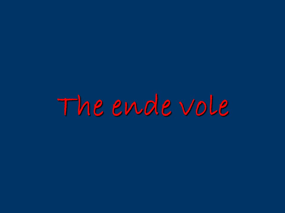 The ende vole