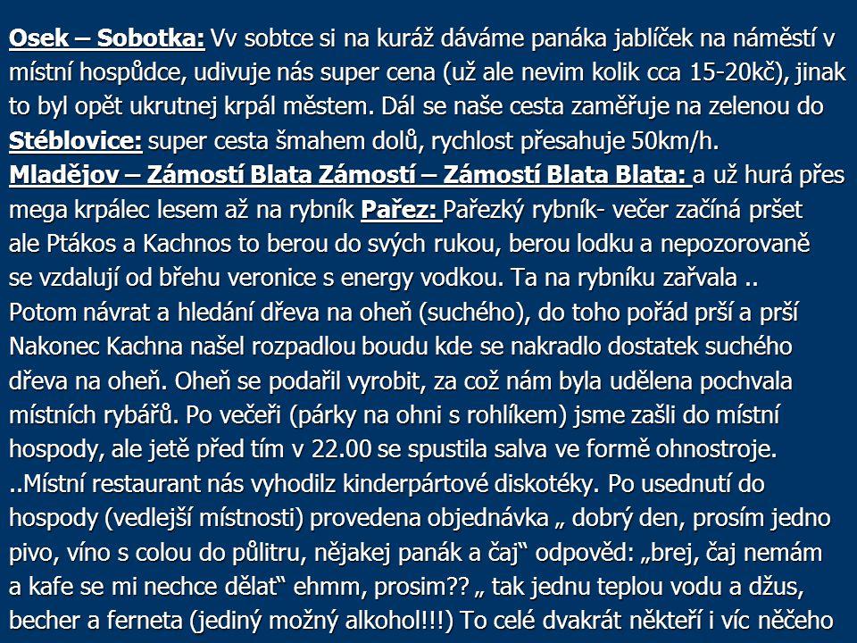 Osek – Sobotka: Vv sobtce si na kuráž dáváme panáka jablíček na náměstí v