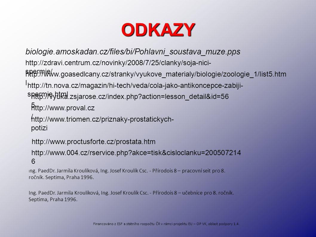 ODKAZY biologie.amoskadan.cz/files/bi/Pohlavni_soustava_muze.pps