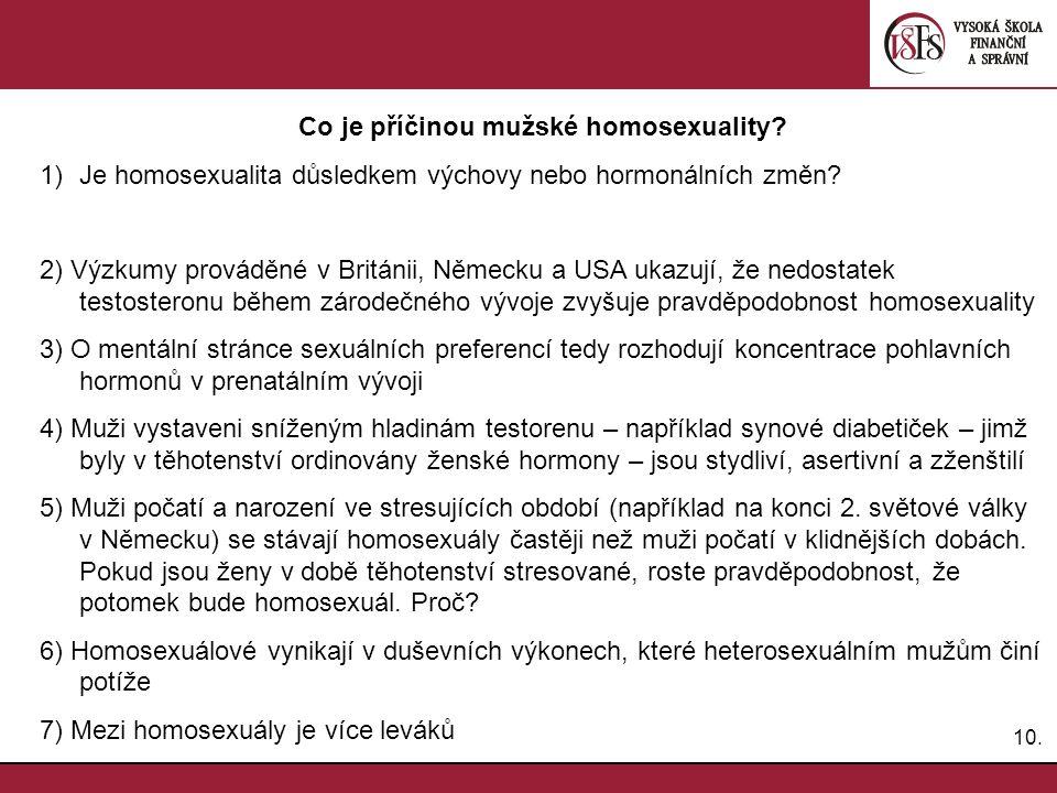 Co je příčinou mužské homosexuality