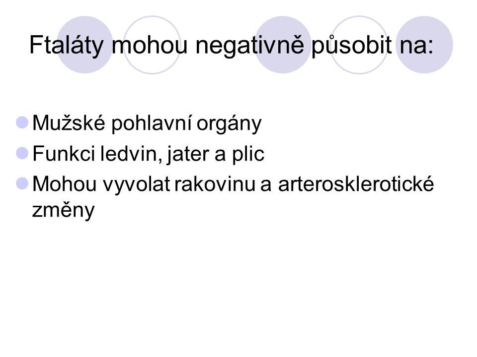 Ftaláty mohou negativně působit na: