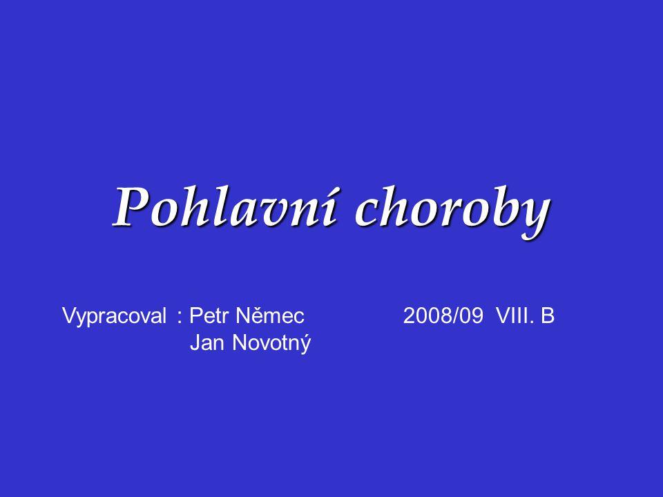 Pohlavní choroby Vypracoval : Petr Němec 2008/09 VIII. B Jan Novotný