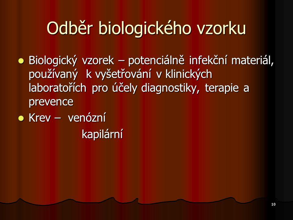 Odběr biologického vzorku