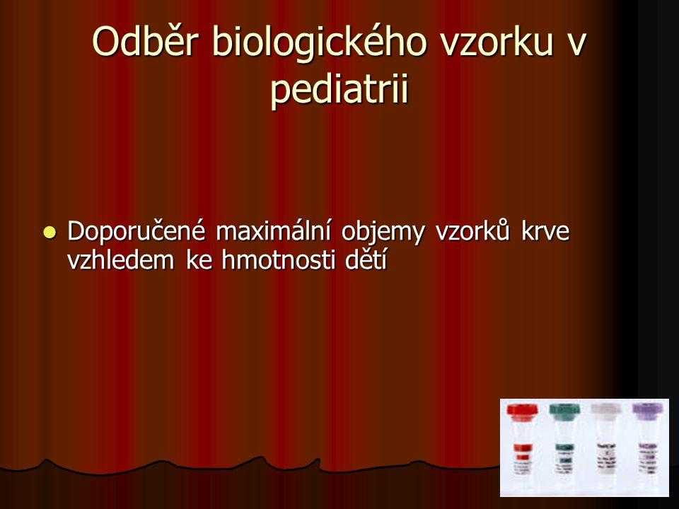 Odběr biologického vzorku v pediatrii