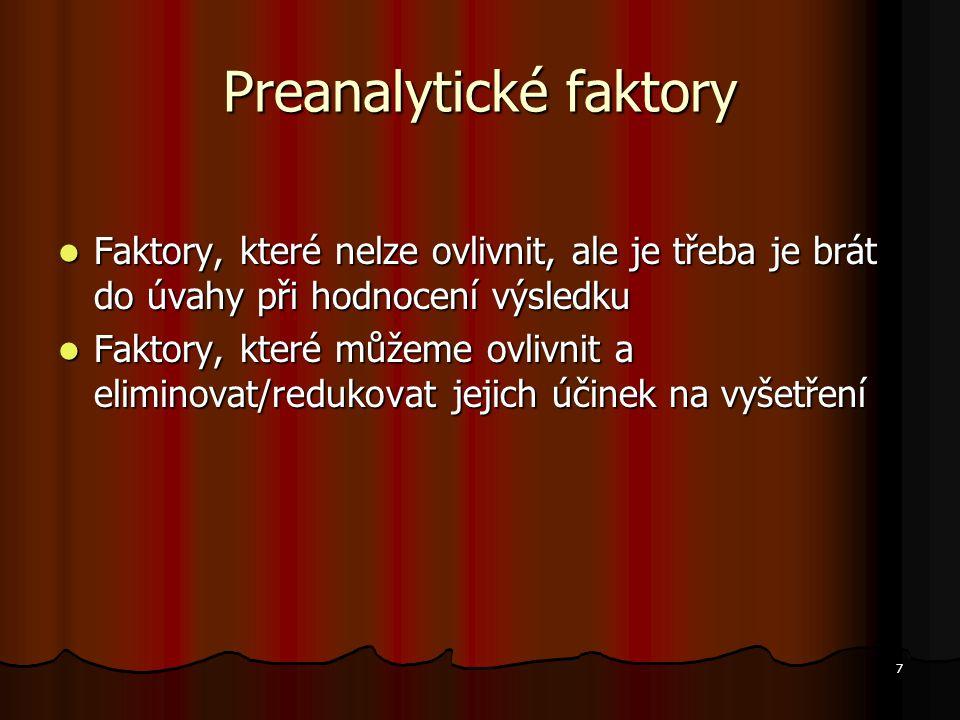 Preanalytické faktory