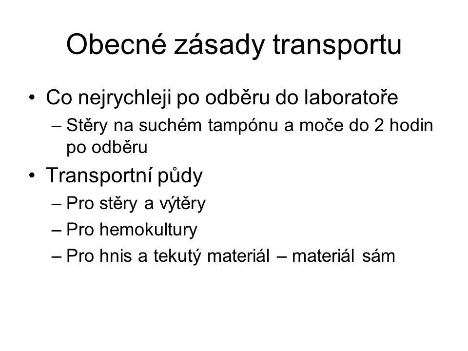 Obecné zásady transportu