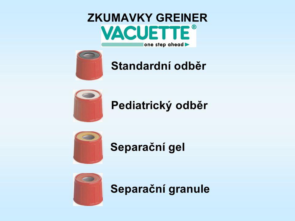 ZKUMAVKY GREINER Separační gel Separační granule