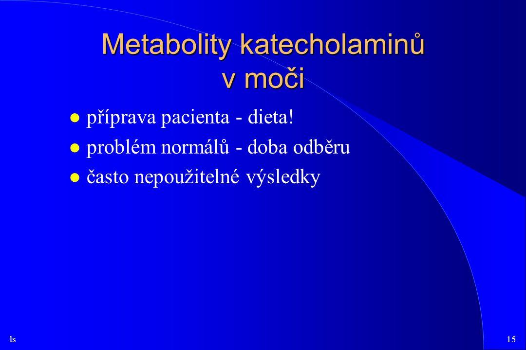 Metabolity katecholaminů v moči