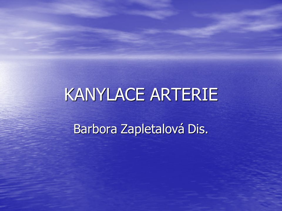 Barbora Zapletalová Dis.