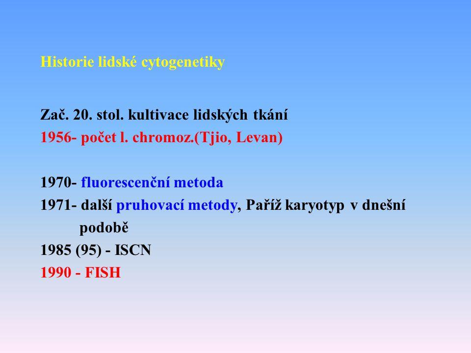 Historie lidské cytogenetiky