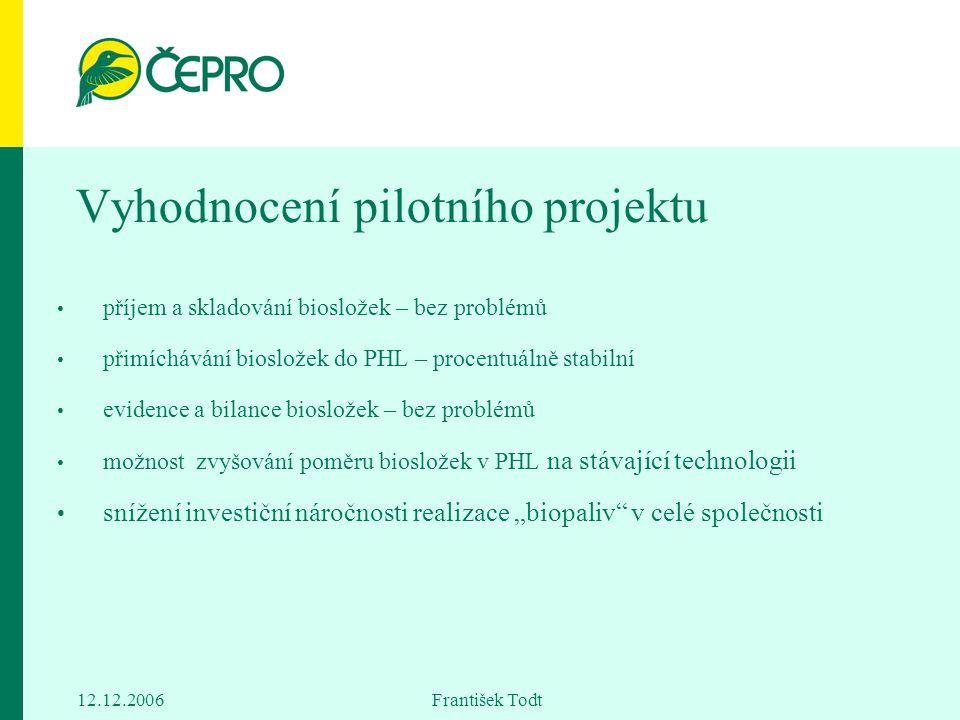 Vyhodnocení pilotního projektu