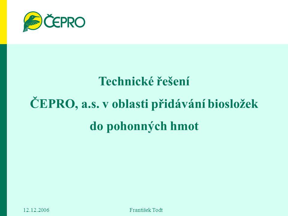Technické řešení ČEPRO, a. s