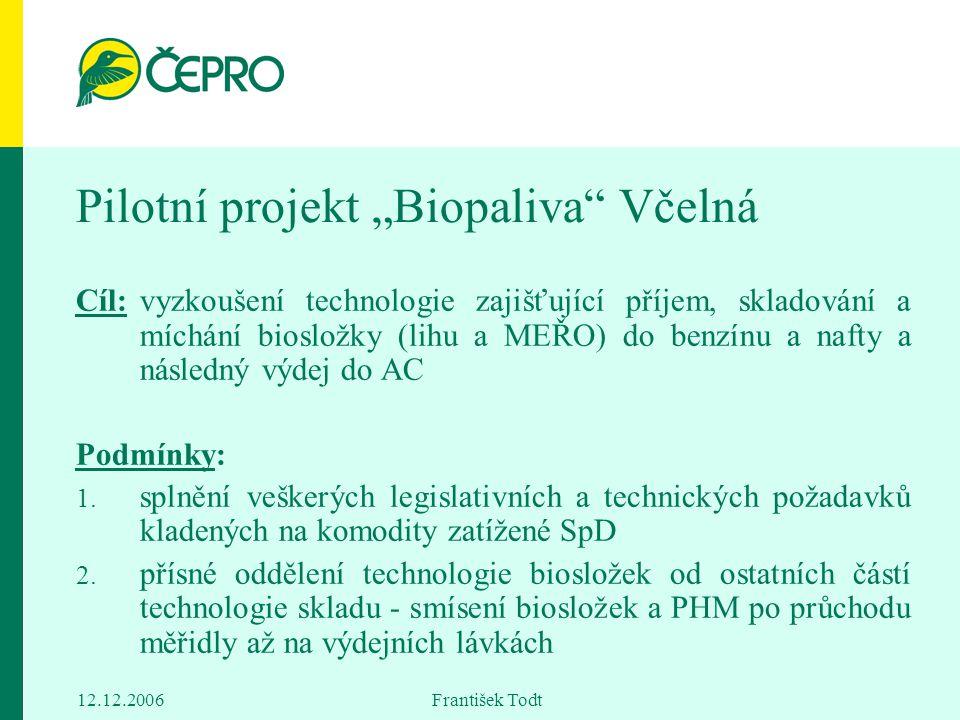 """Pilotní projekt """"Biopaliva Včelná"""
