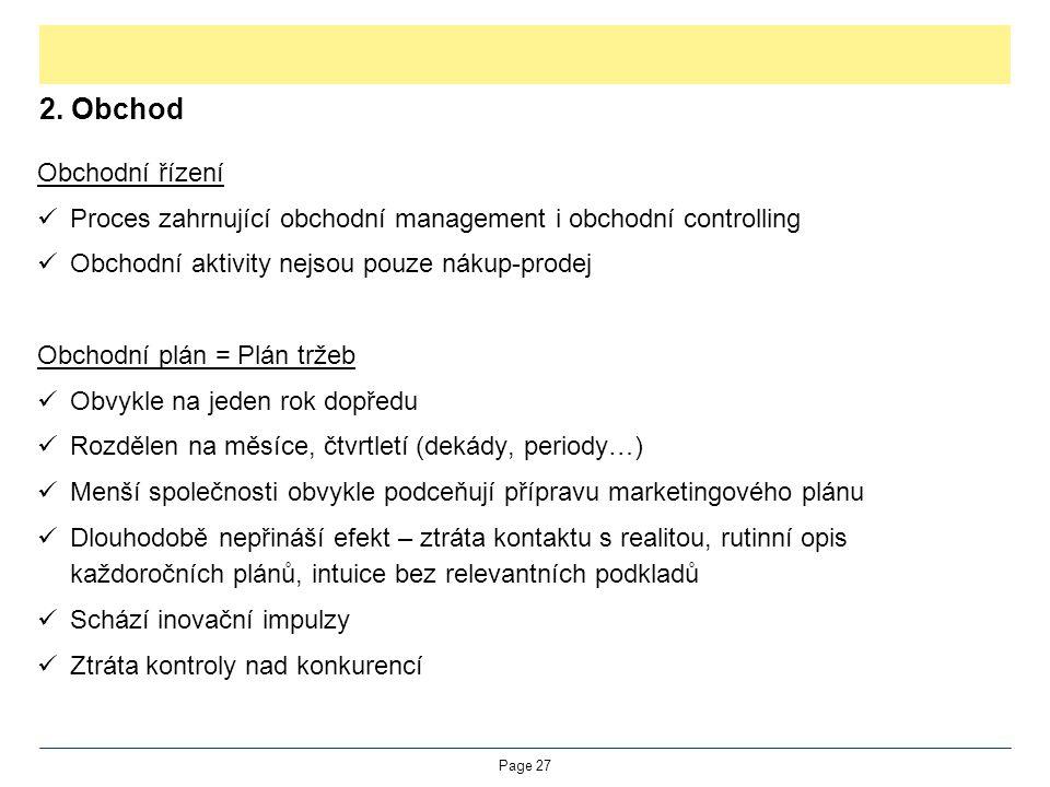 2. Obchod Obchodní řízení