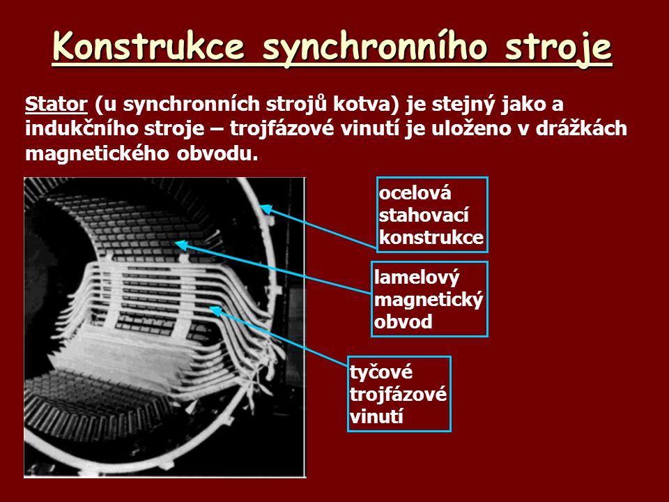 Konstrukce synchronního stroje