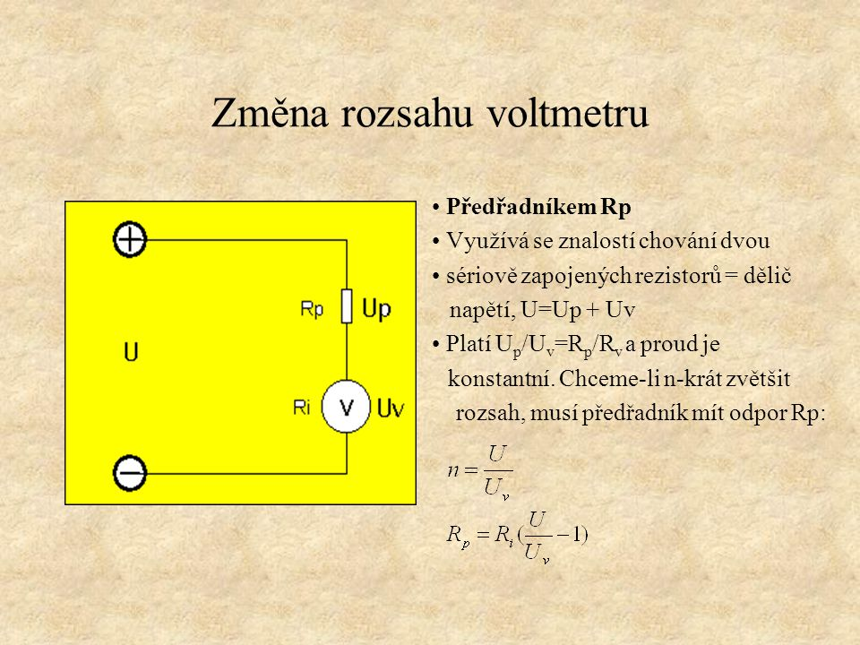 Změna rozsahu voltmetru