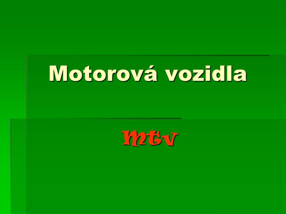 Motorová vozidla Mtv