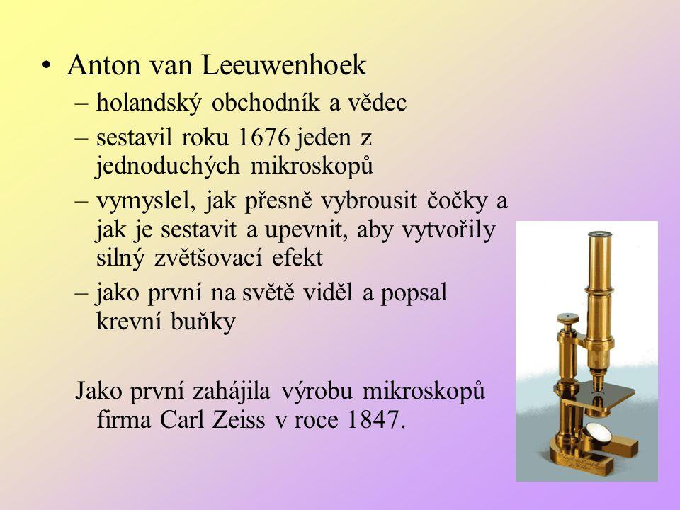 Anton van Leeuwenhoek holandský obchodník a vědec