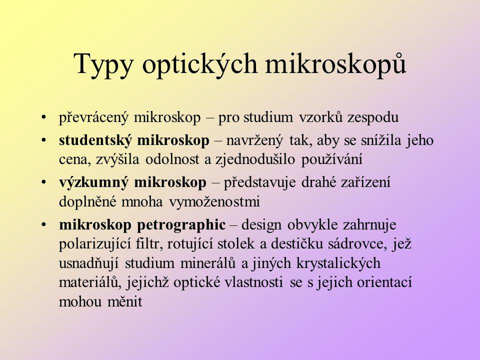 Typy optických mikroskopů