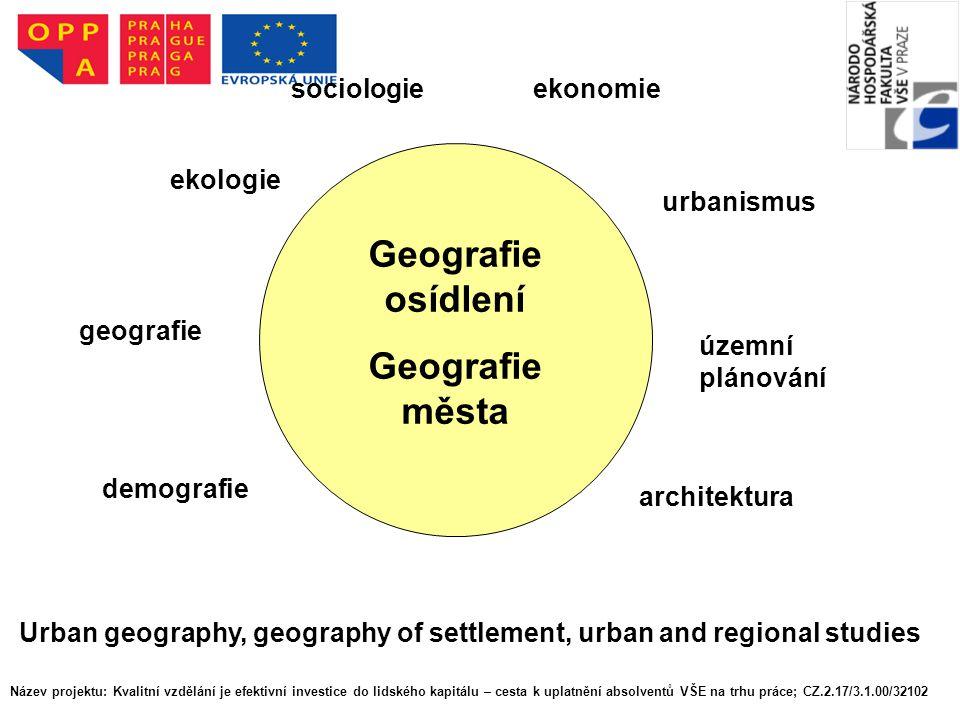 Geografie osídlení Geografie města