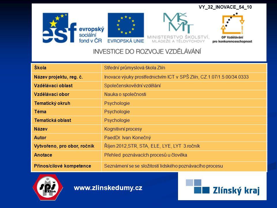 www.zlinskedumy.cz VY_32_INOVACE_54_10 Škola